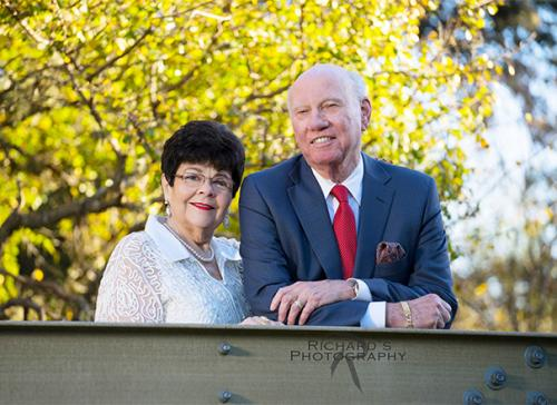 family portrait of 2 people at san antonio park outdoors