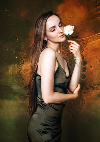 fine art photography woman with flower san antonio