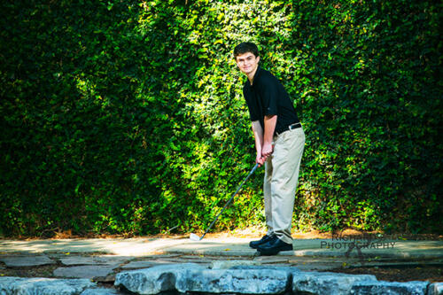 graduation portraits golf club boy at pearl brewery