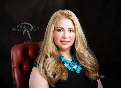headshot woman real estate agent blonde hair san antonio