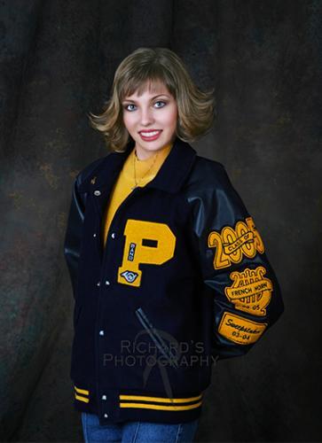 letter jacket high school senior girl san antonio