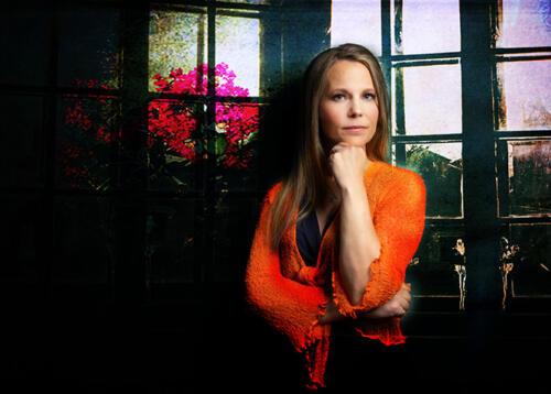 portrait of woman orange top fine art composite san antonio