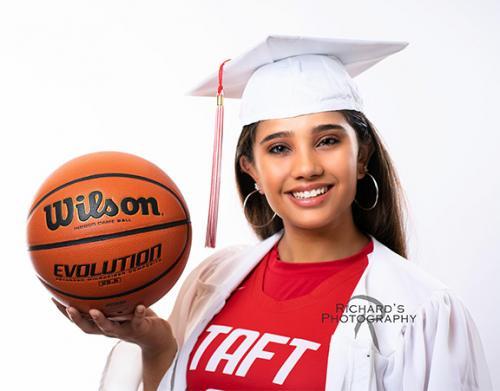 white background senior portrait girl san antonio texas copy