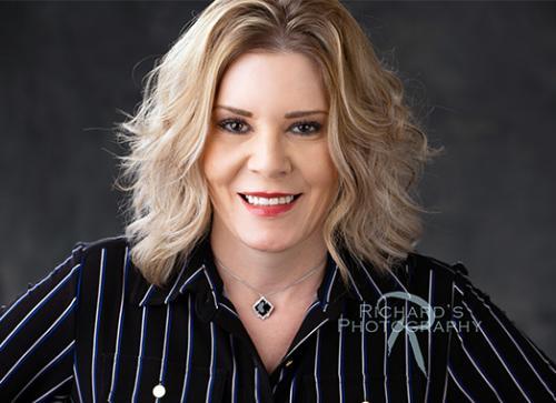 woman blonde hair branding personal headshot san antonio