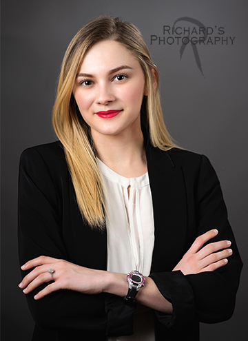 woman blonde hair real estate agent headshot san antonio