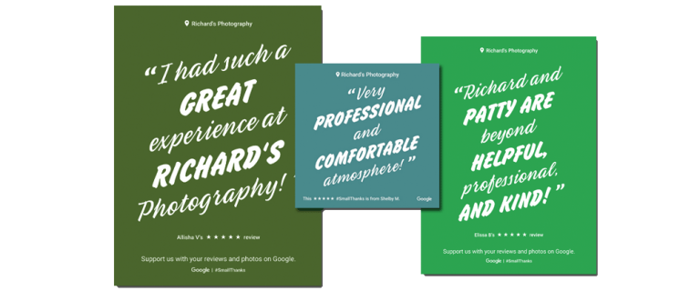 reviews of Richard's Photogrphy